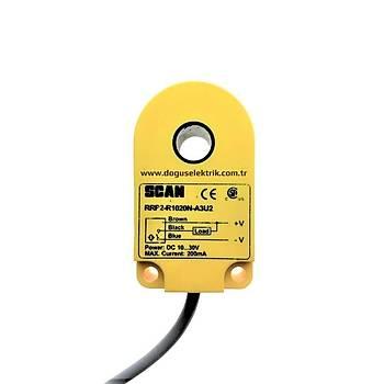 RRP2-R1020N-A3U2 10mm NPN/NO Ýndüktif Ring Sensör SCAN
