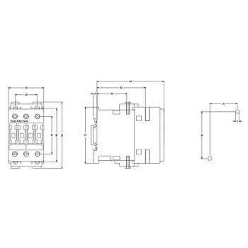 3RT1026-1AF00 25A (11KW) 110VAC Sirius Kontaktör SIEMENS