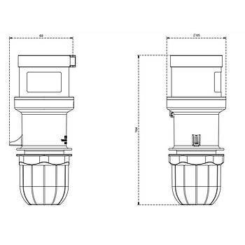 4x32A CEE Norm Trifaze Düz Fiş 213.3236 SCAME