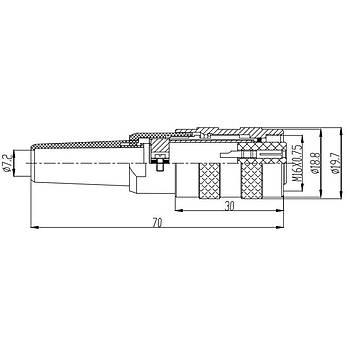 3 Pinli Seyyar Diþi Metal Konnektör J09-3A MAOJWEI