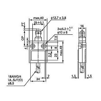 CZ-3112 Metal Makaralý Pimli Kablolu IP67 Limit Siviç CNTD
