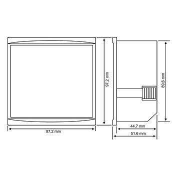 DJ-A96D 100A 96x96mm Dijital Ampermetre TENSE