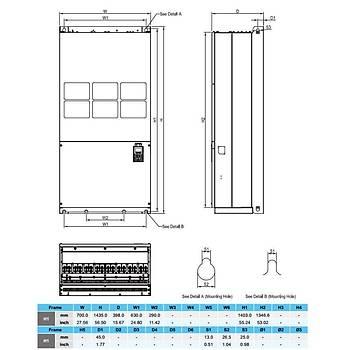 VFD3150C43A 315 KW 3/3 Faz Hýz Kontrol Cihazý (Sürücü) DELTA