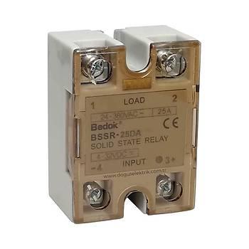 BSSR-25DA 25A Solid State Röle (SSR) 4-32VDC/24-380VAC BEDOK