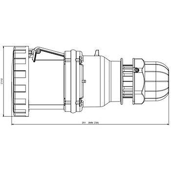 5x63A CEE Norm Trifaze Uzatma Prizi 318.6347 SCAME