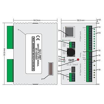 GLC-196T 9 Giriþli/6 Transistör Çýkýþlý 24VDC PLC CPU Modülü GMT
