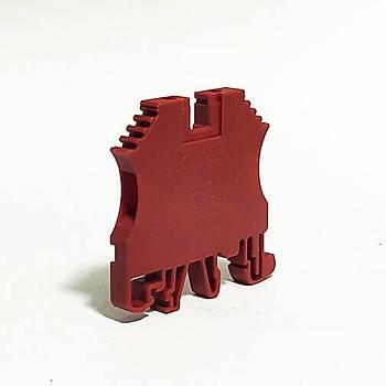 PEK-2,5 Vida Bağlantılı Ray Klemens Kırmızı 305124 KLEMSAN