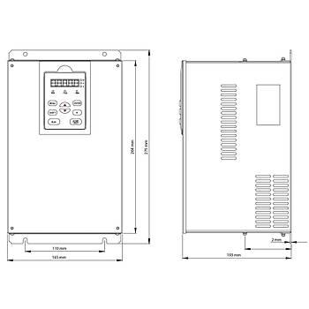 FV100-4T-0075G/0110L 7,5 KW 3/3 Faz Hýz Kontrol Cihazý (Sürücü) KÝNCO