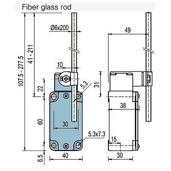 FD 538 Rijit Kollu 2 NO + 2 NC Kontaklý Limit Switch PIZZATO