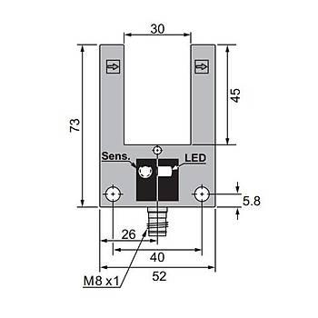 U30-T0030P-CY9Q4UP 30mm PNP/NO Çatal Sensör SCAN