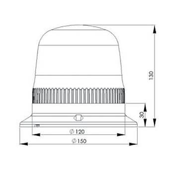 IT120R220 220V AC Kýrmýzý Ledli Iþýklý Ýkaz Lambasý EMAS