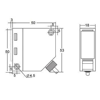 Q50-L010MU-RI5L2 10m Reflektörlü Fotosel BEDOK