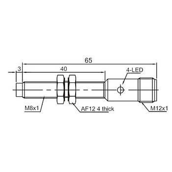 LR08TBN04DPOY-E2 M8 PNP/NO Konnektörlü Ýndüktif Sensör LANBAO