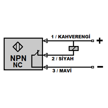 ME4-S12K-NK M12 4mm NPN/NC Kýsa Gövdeli Ýndüktif Sensör MEFA