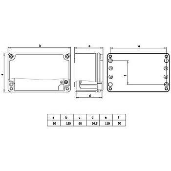 80x130x60mm IP67 Alüminyum Buat 402505 METE ENERJÝ