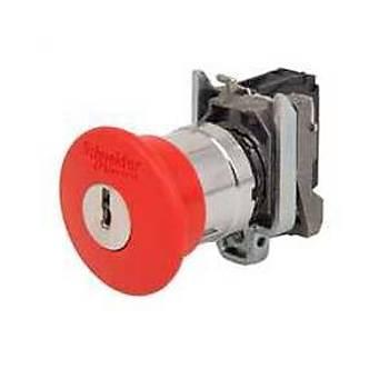 XB4BS9442 22mm 1NK Kontaklý Kalýcý Anahtarlý Emergency Mantar Acil Stop Butonu SCHNEIDER