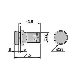 XB7NA45 22mm 1NA+1NK Kýrmýzý Yaylý Monoblok Buton SCHNEIDER