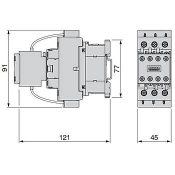 LC1DFK11M7 12.5 KVAR Kondansatör Kontaktörü SCHNEIDER