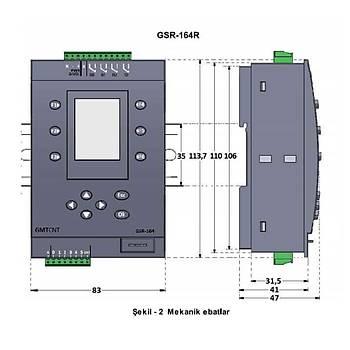 GSR-164R 24VDC Ekranlý Mini PLC GMT