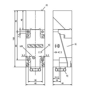 3RG4041-6KD00 20mm 12/24VDC Ýndüktif Kübik Sensör SIEMENS