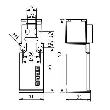 L5K23LUM321 Kývrýk Metal Anahtarlý Emniyet (Güvenlik) Sivici EMAS