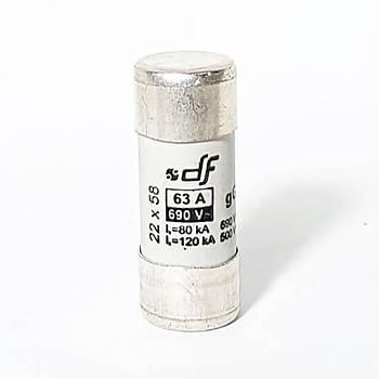 22x58mm 63A Gecikmeli Tip (gG) Kartuþ Sigorta 420063 DF