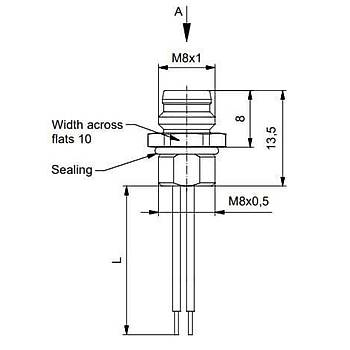 M8 3 Pinli Makine Tipi Erkek Sensör Konnektörü 42-01032 CONEC