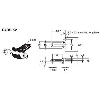 D4BS-15FS Metal Gövdeli Kapý Emniyet (Güvenlik) Sivici OMRON