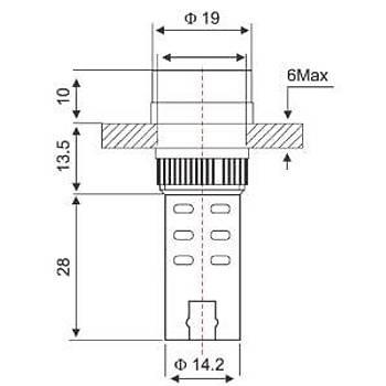 16mm Kýrmýzý Ledli 24V Buzzer AD22-16SM LEAGLO