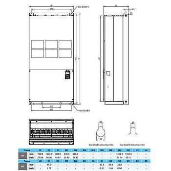 VFD3550C43A 355 KW 3/3 Faz Hýz Kontrol Cihazý (Sürücü) DELTA