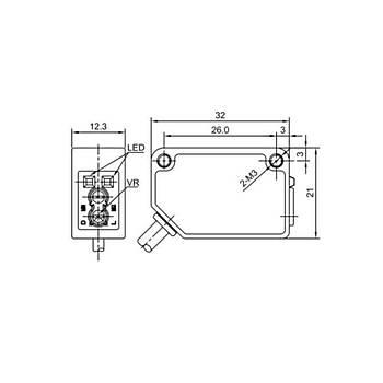 PSFT-DM2DNB NPN NO/NC Reflektörlü Kübik Fotosel Sensör LANBAO