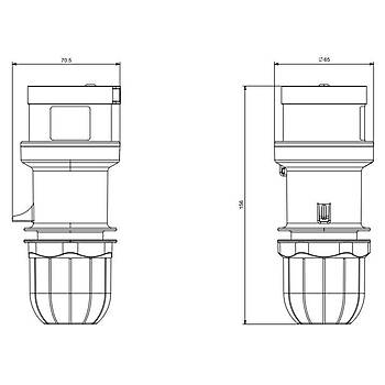 5x16A CEE Norm Trifaze Düz Fiþ 213.1637 SCAME