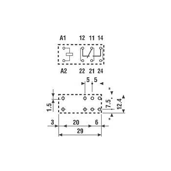 40.61 24VDC 1CO (SPDT) Kontaklý PCB Röle FINDER