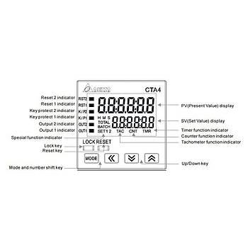 CTA4100A 48x48mm Dijital Sayýcý/Zaman Rölesi/Takometre DELTA
