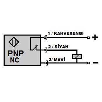 ÝF12-Y40-PK 12mm PNP/NC Titreþim Hisseden Ýp Koptu Sensörü MEFA