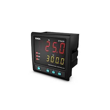 ET9420-230VAC 96x96mm Fonksiyonel Dijital PID/On-Off Isý Kontrol Cihazý (Termostat) ENDA