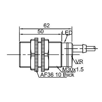 CR30TSCF-10ATC M30 20...250V NC Kapasitif Sensör LANBAO