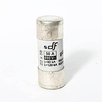 22x58mm 50A Gecikmeli Tip (gG) Kartuþ Sigorta 420050 DF