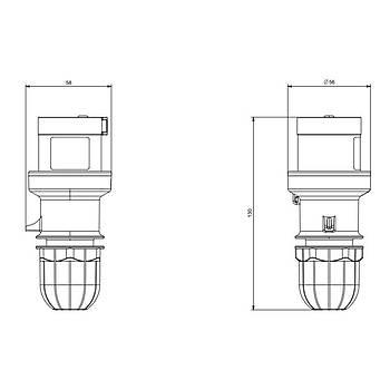 3x16A CEE Norm Monofaze Düz Fiþ 213.1633 SCAME