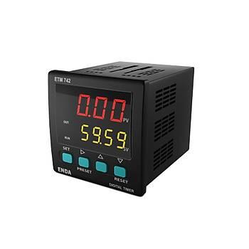 ETM742 230VAC 72x72mm Dijital Zaman Rölesi (Timer) ENDA