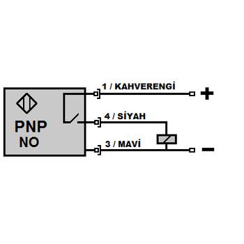 ME2-S8-PAS M8 2.5mm PNP/NO M12 Soketli Ýndüktif Sensör MEFA