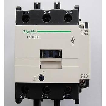 LC1D80B7 80A (37 KW) 24VAC Bobinli Trifaze Güç Kontaktörü SCHNEIDER