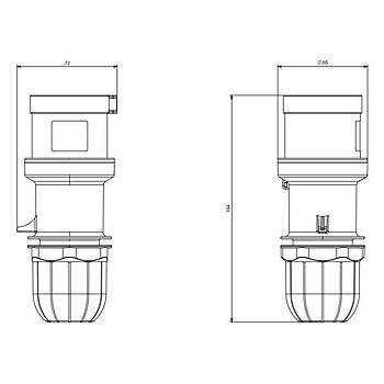 3x32A CEE Norm Monofaze Düz Fiþ 213.3233 SCAME