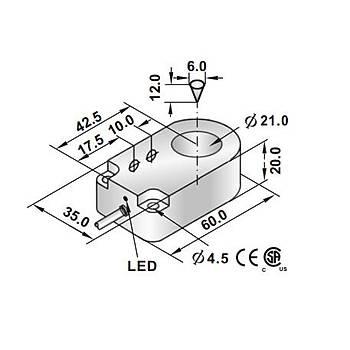 RRP2-R2120N-A3U2 21mm NPN/NO İndüktif Ring Sensör SCAN