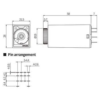 ATM4-230S 30sn 24VDC Zaman Rölesi AUTONICS