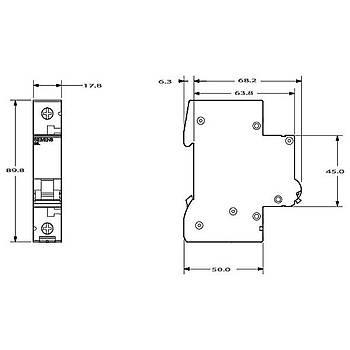 1x25A C Tipi 6KA Otomat Sigorta 5SL6125-7 SIEMENS