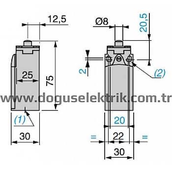 XCKN2110P20 Metal Pimli Limit Siviç SCHNEIDER