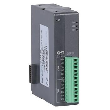GXM-20L 2 Kanal Yük Hücresi (Loadcell) Giriþ Modülü GMT