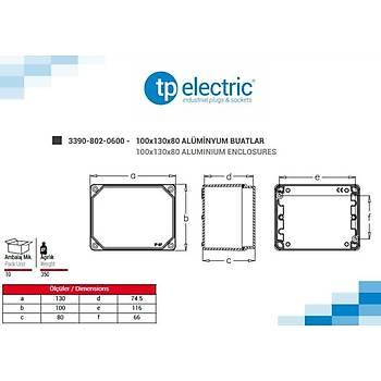 100x130x80mm IP67 Alüminyum Buat 3390-802-0600 TP