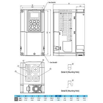 VFD015C43A 1,5 KW 3/3 Faz Hýz Kontrol Cihazý (Sürücü) DELTA